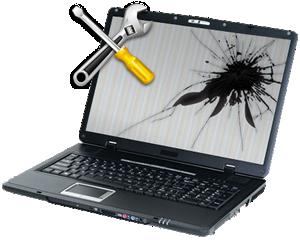 Oprava obrazovky či pantů notebooku